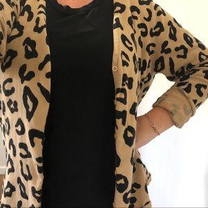 COPY - Oversized leopard cardigan